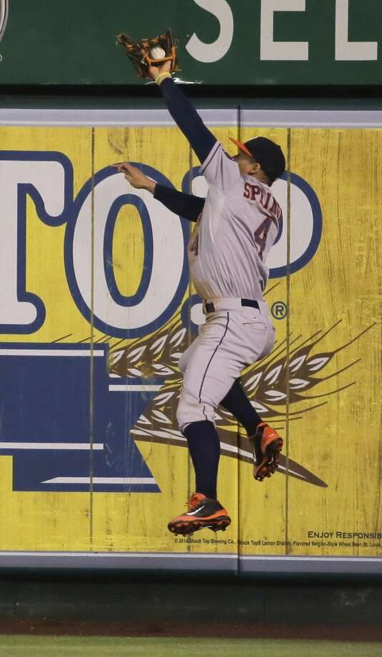 July 3: Angels 5, Astros 2George Springer's heroics on defense weren't enough to help the Astros snap a losing streak that reached four.  Record: 36-51. Photo: Chris Carlson, Associated Press