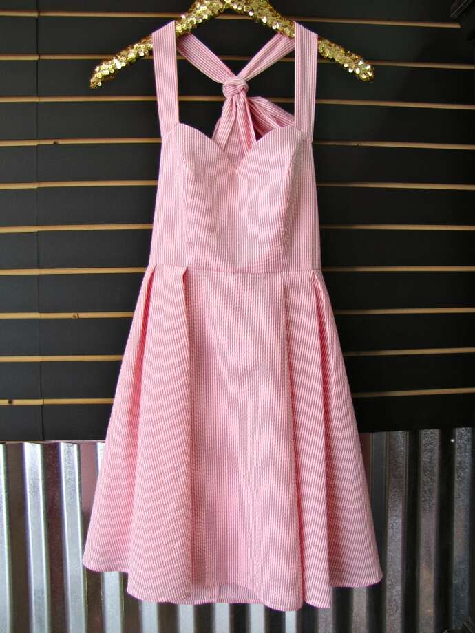 Livingston seersucker dress, $130, the Pink Chandelier, Beaumont Photo: Larena Head/cat5