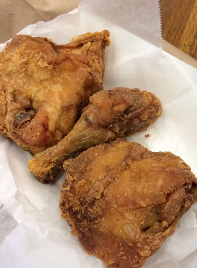 Frisco Fried:  The chicken needs only a light dusting of flour and a dip in the deep fryer ($4.99 for three pieces).