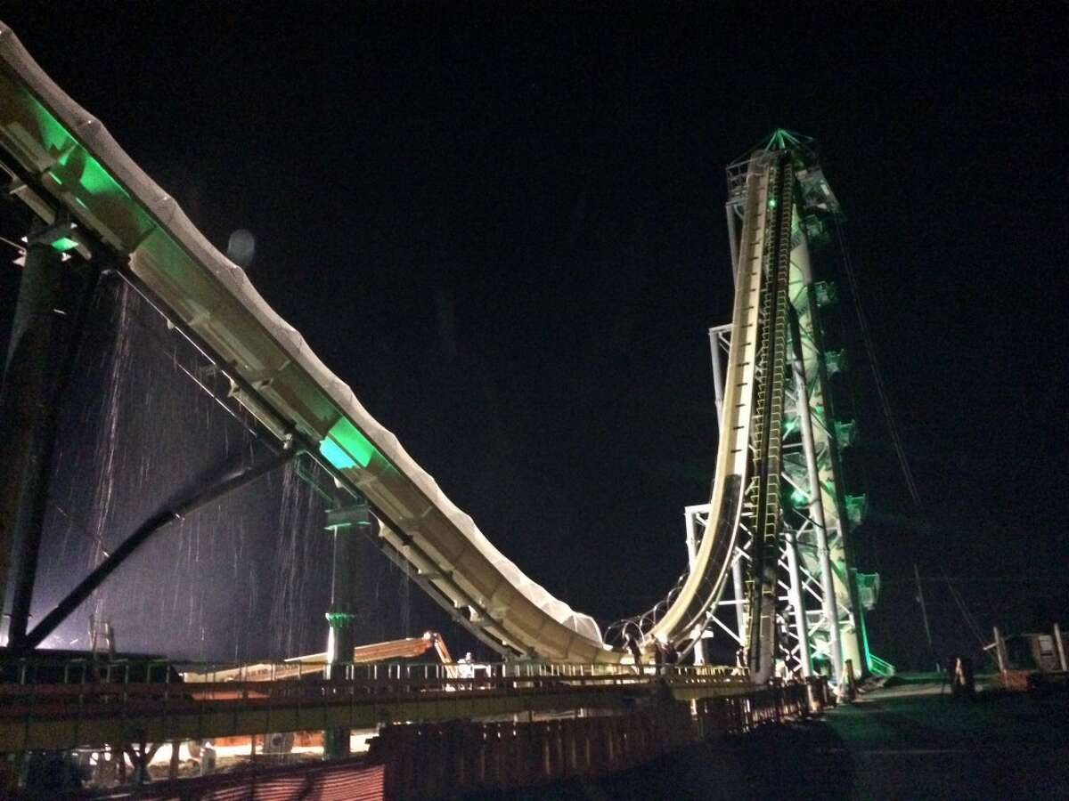 The Verruckt, the world's tallest water slide, was built in New Braunfels and will open in July 2014 at the Kansas City, Kan., Schlitterbahn.