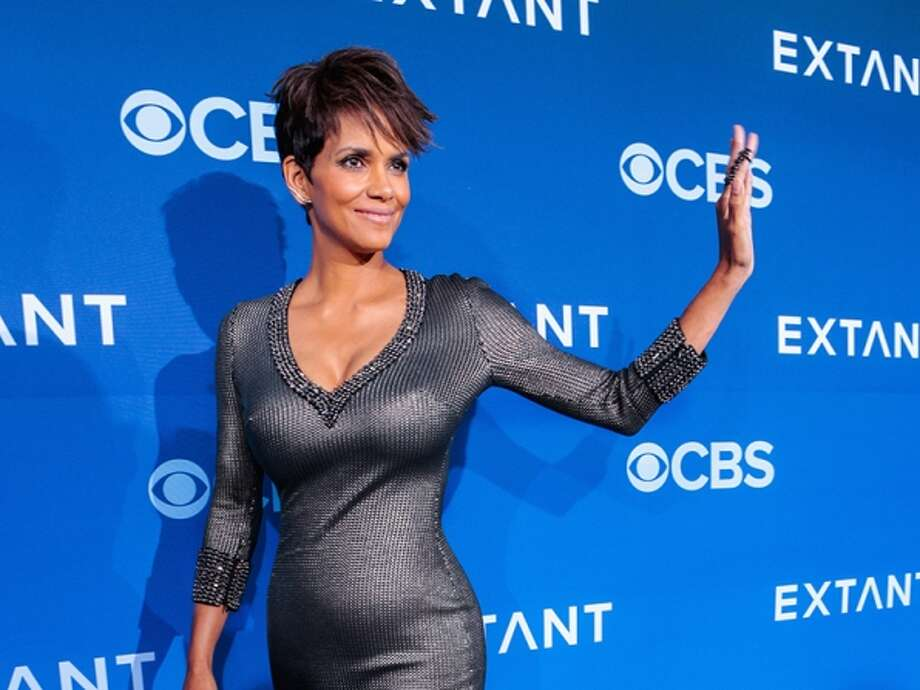 Halle Berry walks the red carpet at premiere. Photo: CBS