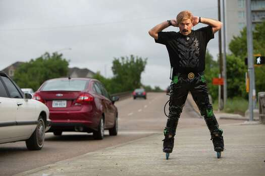 "Houston rollerblader Juan Carlos returns to  ""America's Got Talent"" Tuesday. Photo: Johnny Hanson, Staff / © 2014  Houston Chronicle"