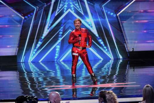 "Juan Carlos, the dancing rollerblader from Houston, performs on ""America's Got Talent"" in the opening rounds. Keep clicking to see some of Houston's other reality stars. Photo: Eric Liebowitz / 2014 NBCUniversal Media, LLC"