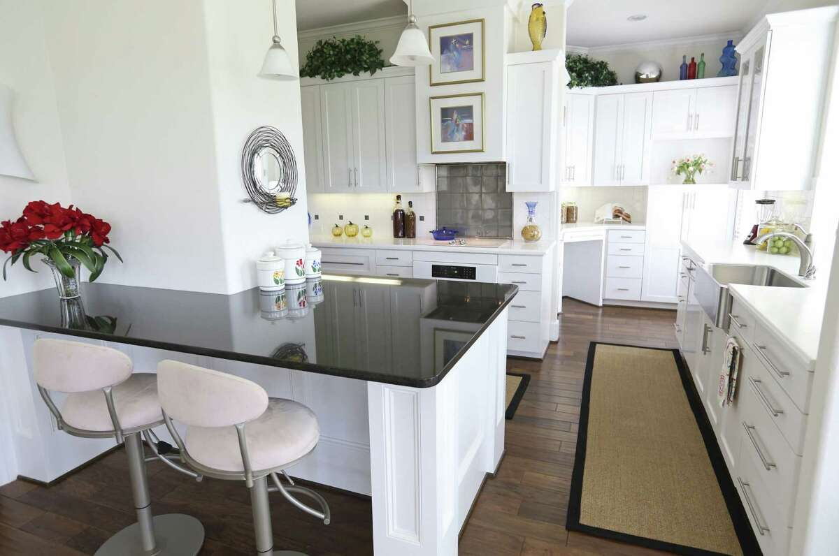 The kitchen is as bright and airy as the rest of the house.