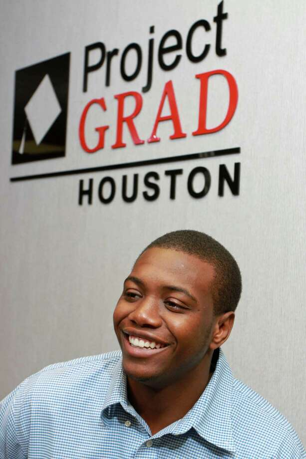 Milton Parker, a recent graduate of Houston Community College, is interested in joining the Houston Police Department. Photo: Gary Fountain, Freelance / Copyright 2014 by Gary Fountain