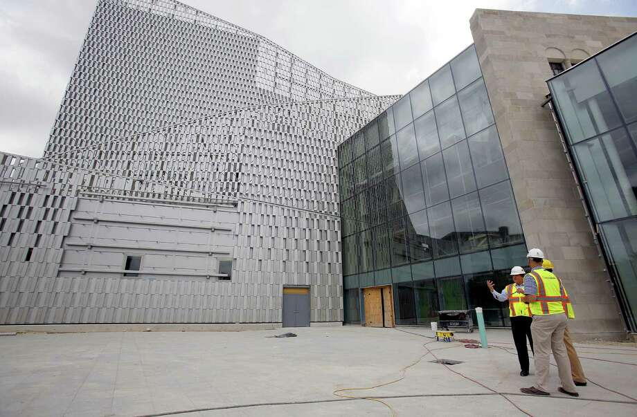 Work is on track and on budget for the scheduled Sept. 4 grand opening of the Tobin Center for the Performing Arts. Photo: William Luther / San Antonio Express-News / © 2014 San Antonio Express-News
