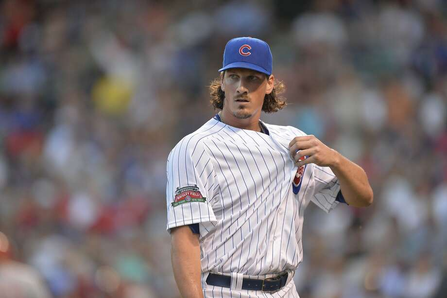 Jeff Samardzija, who has pitched much better than his 2-7 record, joins the A's. Photo: Brian Kersey, Getty Images