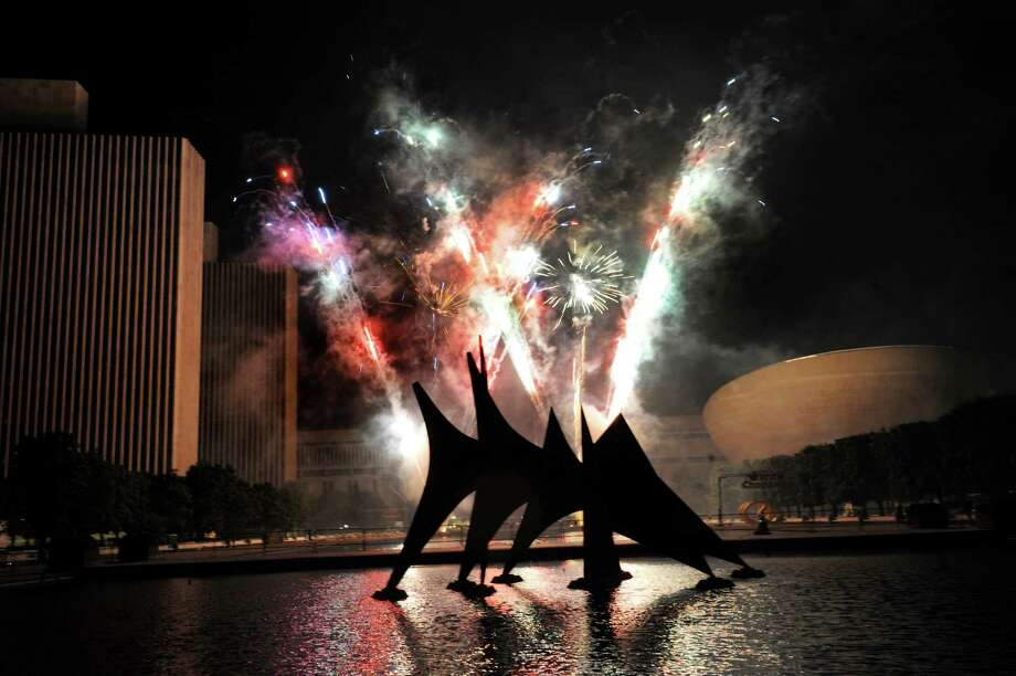 Fireworks during the Fourth of July celebration on Friday July 4, 2014, at the Empire State Plaza in Albany, N.Y. (Cindy Schultz / Times Union) Photo: Cindy Schultz / 00027120A