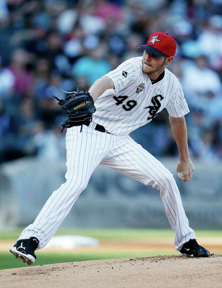 Chicago White Sox starting pitcher Chris Sale delivers against the Seattle Mariners during the first inning of a baseball game on Friday, July 4, 2014, in Chicago. (AP Photo/Andrew A. Nelles) ORG XMIT: CXS104 Photo: Andrew Nelles / FR170974 AP