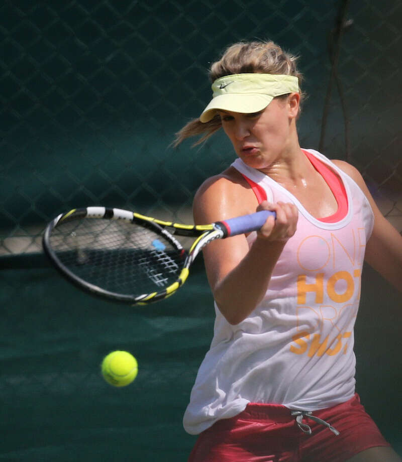 Eugenie Bouchard will be the first Canadian to play in a Grand Slam final today. Photo: Andrew Cowie / Getty Images / AFP