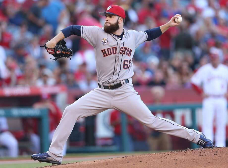 July 4: Angels 7, Astros 6Dallas Keuchel wasn't his sharpest but left with a one-run lead that the Astros bullpen would ultimately let go to waste in a loss.  Record: 36-52. Photo: Stephen Dunn, Getty Images