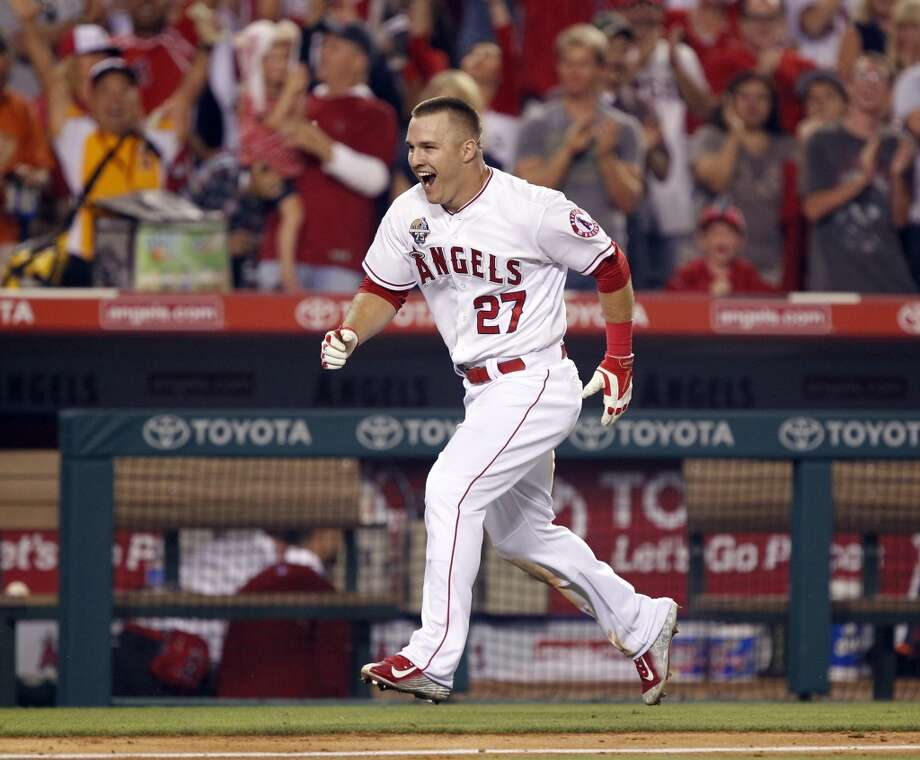 Mike Trout, Los Angeles Angels, starting outfielder for the American League. Photo: Alex Gallardo, Associated Press