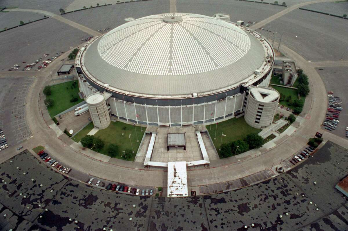 FILE - This May 16, 1991, file photo, shows an aerial view of the Houston Astrodome in Houston. A glimmer of hope surfaced in the effort to keep the Houston Astrodome, the world's first multipurpose domed stadium, from being torn down with its addition this week to the National Register of Historic Places. But the designation alone will not be enough to prevent the demolition of the so-called