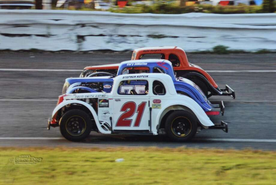 A modified stock car at Stafford Motor Speedway Photo: Contributed Photo / The News-Times Contributed
