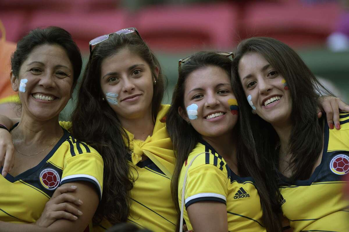 Fans cheer during a quarter-final football match between Argentina and Belgium at the Mane Garrincha National Stadium in Brasilia during the 2014 FIFA World Cup on July 5, 2014. AFP PHOTO / JUAN MABROMATAJUAN MABROMATA/AFP/Getty Images