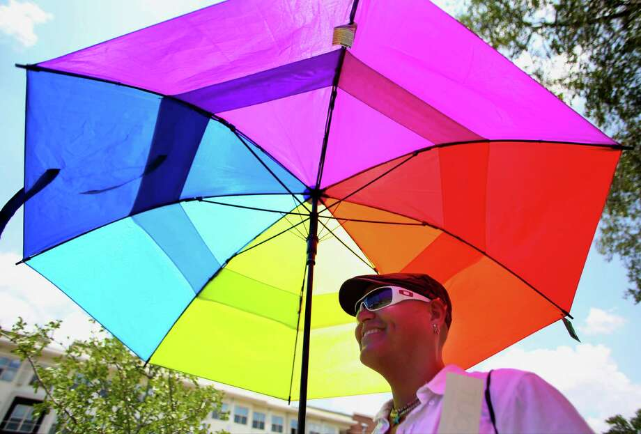 If you're excited to celebrate the landmark ruling on marriage equality with San Antonio's LGBT community, the following gallery lists parties and rallies happening around town Friday, June 26. Photo: Timothy Tai, San Antonio Express-News / © 2014 San Antonio Express-News