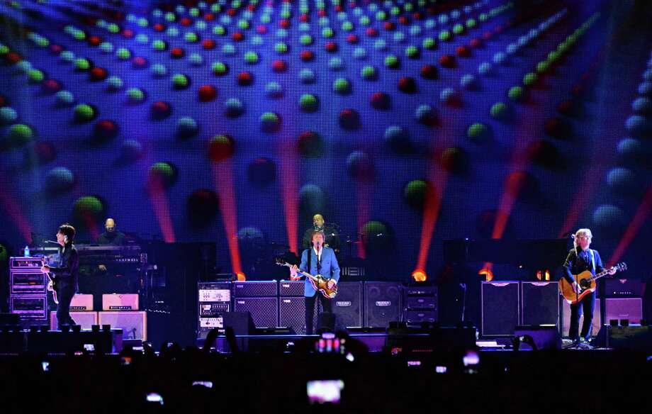 Paul McCartney, center, brings his Out There Tour to the Times Union Center Saturday July 5, 2014, in Albany, NY.  (John Carl D'Annibale / Times Union) Photo: John Carl D'Annibale / 00027433A