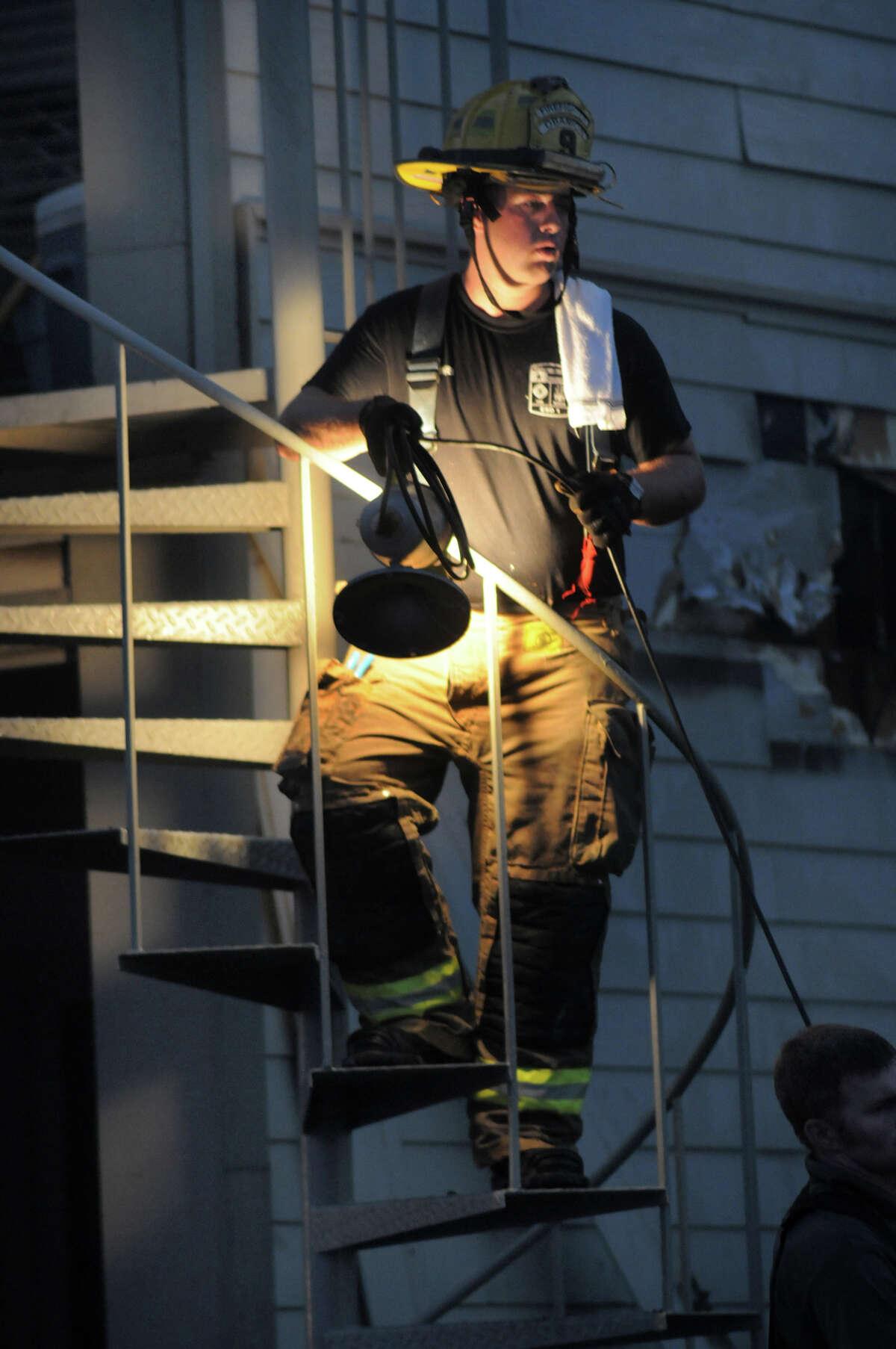 April Sound Condominiums in Conroe was the scene of a four-alarm fire on Saturday.