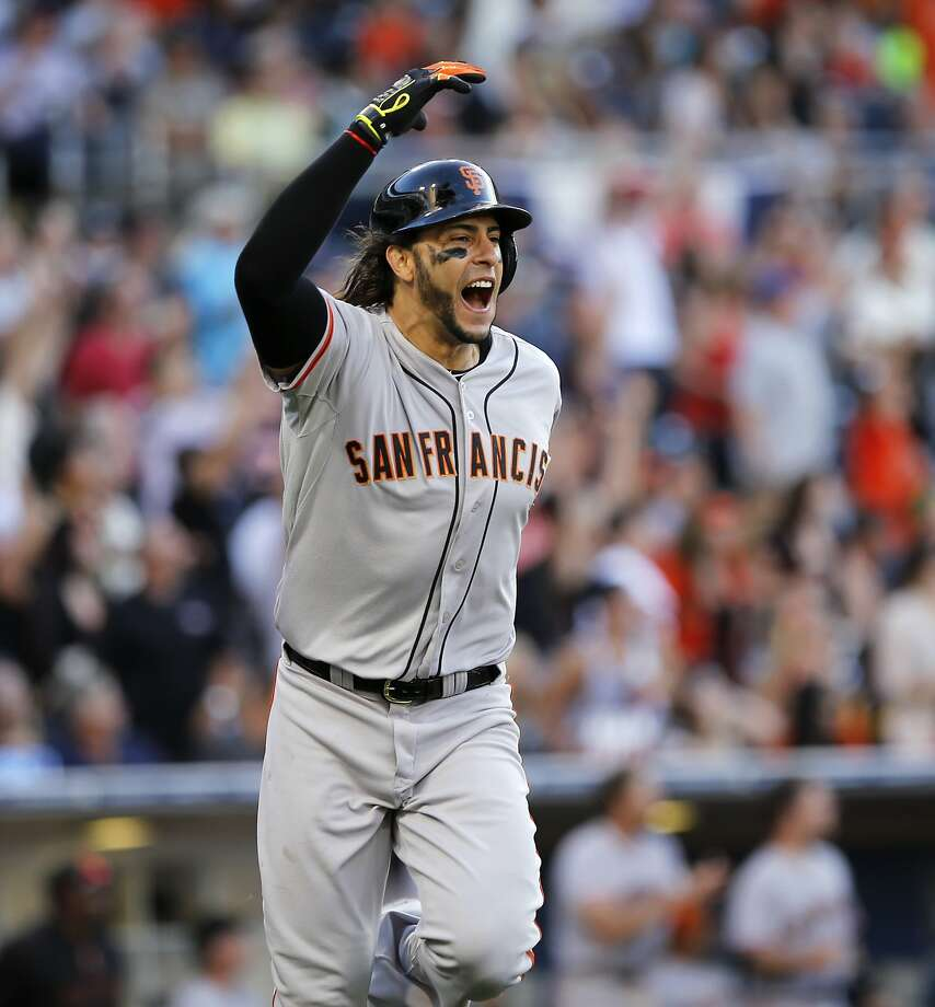Michael Morse shows some excitement as his shot to left clears the fence in the ninth. Photo: Don Boomer, Associated Press