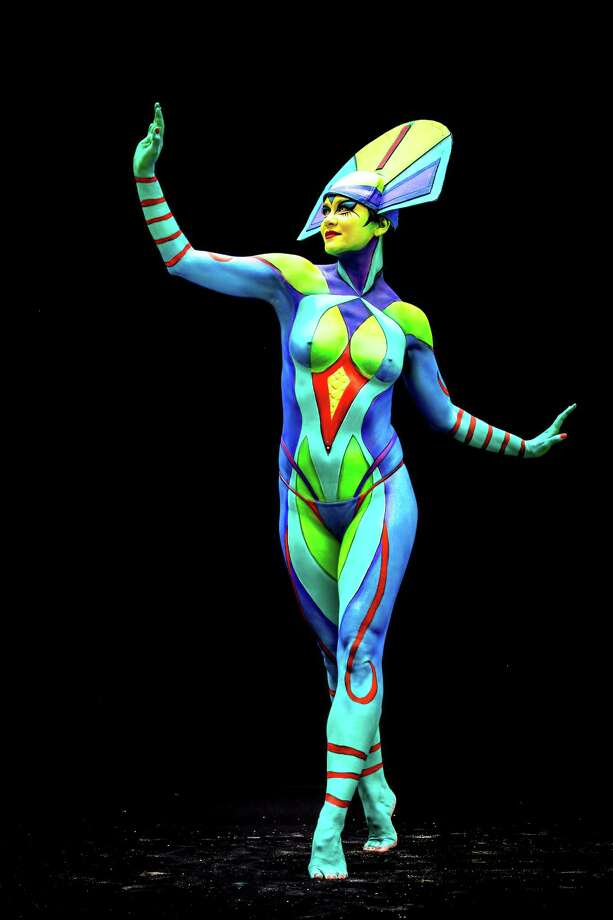 A model poses at the World Bodypainting Festival 2014 on July 4, 2014 in Poertschach am Woerthersee, Austria. Photo: Jan Hetfleisch, Getty Images / 2014 Getty Images