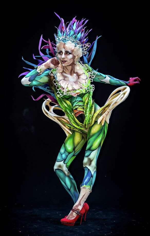A model poses at the World Bodypainting Festival 2014 on July 5, 2014 in Poertschach am Woerthersee, Austria. Photo: Jan Hetfleisch, Getty Images / 2014 Getty Images