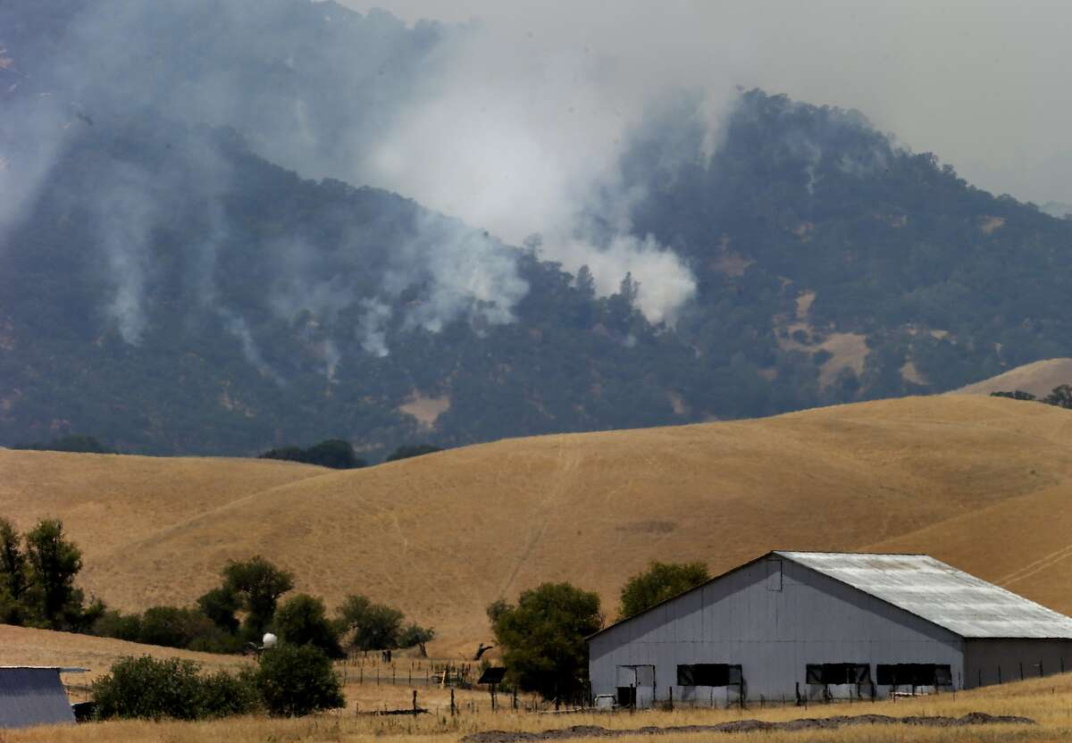 The fire moved north of Winters during the day and firefighters used an aggressive air attack. Firefighters made significant gains against the Monticello fire near Lake Berryessa Sunday July 6, 2014 and residents began returning to their homes.
