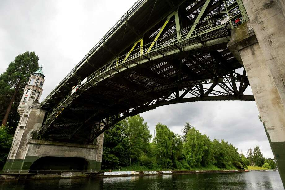 Montlake Bridge-- Spans Lake Union Ship Canal -- Added to the National Register of Historic Places on July 16, 1982. Photo: JORDAN STEAD, SEATTLEPI.COM / SEATTLEPI.COM