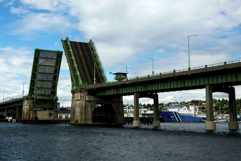 Ballard Bridge -- Spans Lake Washington Ship Canal -- Added to the National Register of Historic Places on July 16, 1982. Photo: JORDAN STEAD, SEATTLEPI.COM / SEATTLEPI.COM