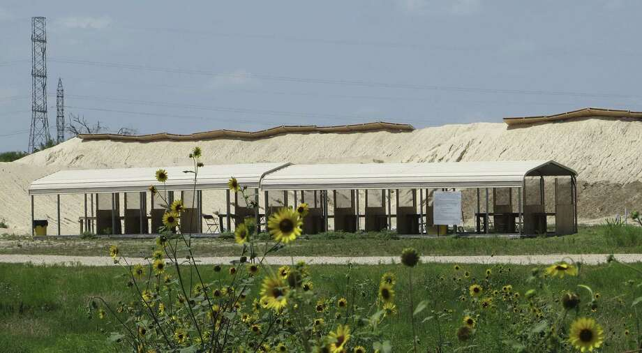 County Line Shooting Center, located between San Marcos and New Braunfels, was shut down temporarily June 24. Neighbors claimed bullets from the range were landing on their property. Photo: Zeke MacCormack / San Antonio Express-News / San Antonio Express-News