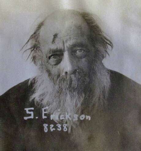 """S. Erickson was committed in 1929. A doctor who examined him wrote he """"wanders around naked at night"""" and suffers from senility. Photo: Associated Press / Oregon State Hospital"""