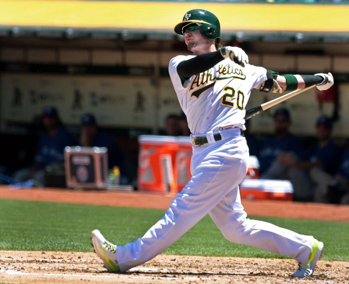 Josh Donaldson was named to the American League All-Star Team on Sunday as the A's take the four-game series against the Toronto Blue Jays, winning 4-2 on Sunday, July 6, 2014 in Oakland, Calif.