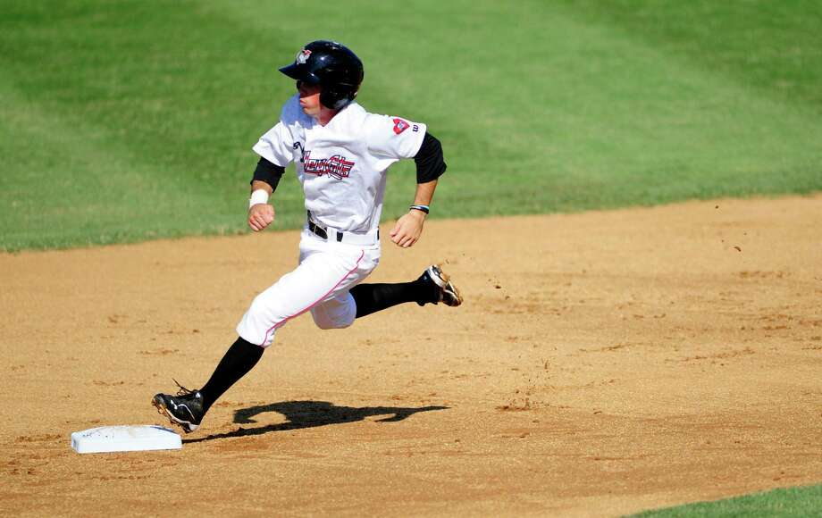 Bobby Boyd of the Tri-City ValleyCats rounds second base during their game against the Lowell Spinners on Sunday, July 6, 2014, in Troy, N.Y.   (Paul Buckowski / Times Union) Photo: Paul Buckowski / 00027565A