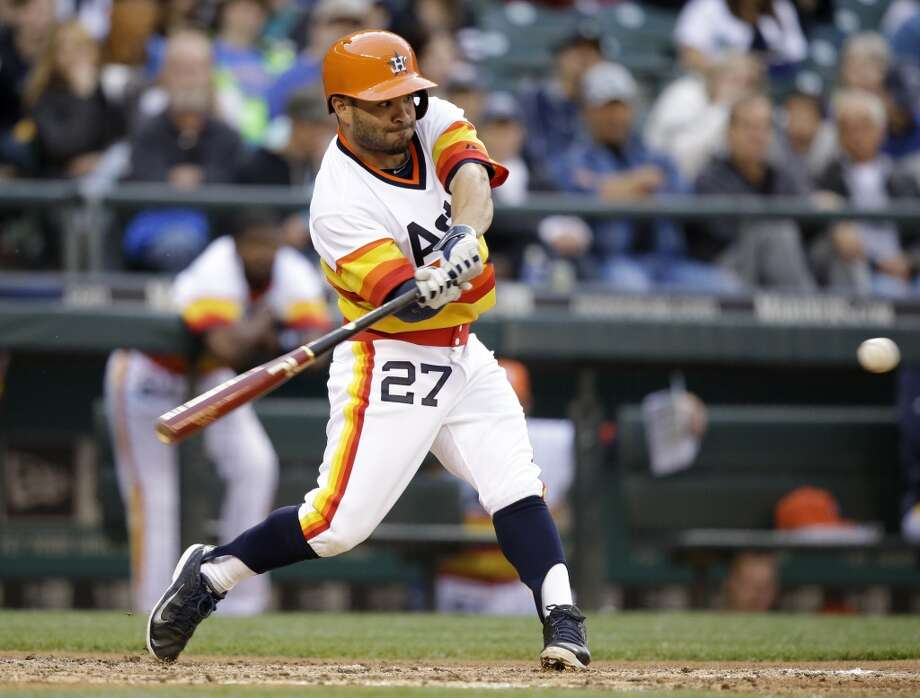 2014: Jose Altuve   An All-Star in 2012 while the Astros were still in the National League, Altuve now has the distinction of being the only player in MLB history to be voted to the Midsummer Classic for both leagues while on the same team. Photo: Elaine Thompson, Associated Press
