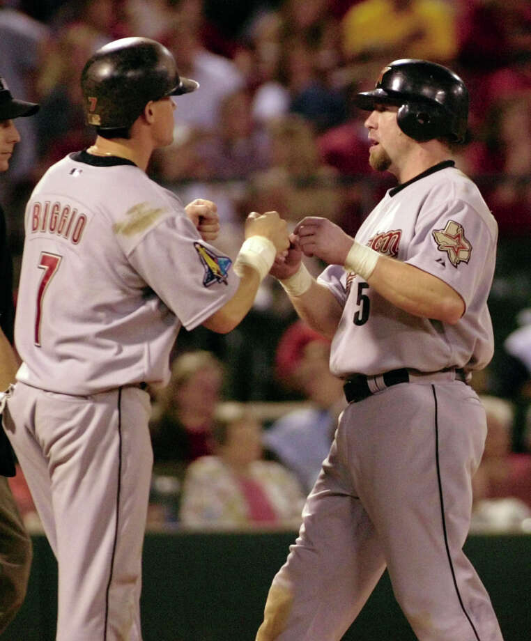 1997: Craig Biggio and Jeff Bagwell Biggio matched a career-high 22 home runs as he helped the Astros win the central division.This was the last All-Star game that Bagwell and Biggio played together. Bagwell finished the year with 43 home runs and 135 RBIs. Photo: TOM GANNAM, AP / AP