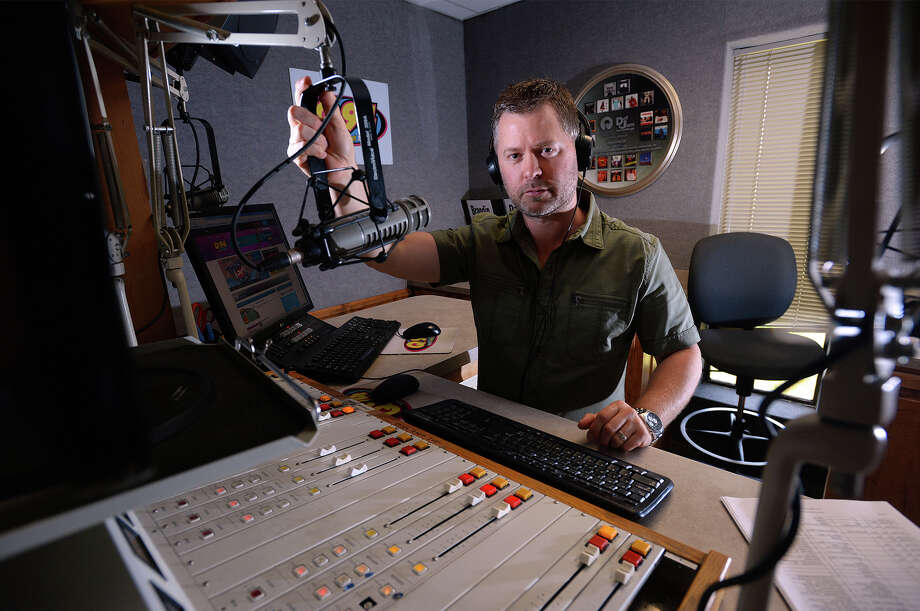 Program directors for local radio stations cautiously walk the line of appropriateness when it comes to music content. Sometimes that means taking out lyrics that the FCC allows, but Southeast Texas listeners may not. Q94's Brandin Shaw in his studio at the Cumulus Radio in Beaumont. Photo taken Thursday, July 03, 2014 Guiseppe Barranco/@spotnewsshooter Photo: Guiseppe Barranco, Photo Editor
