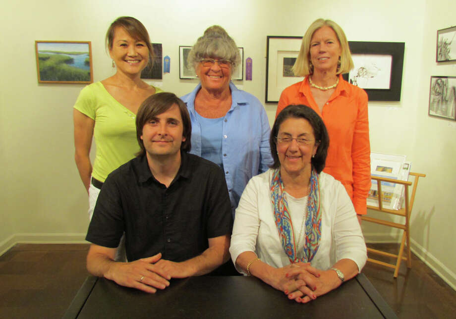 Among the new members of the Rowayton Arts Center board are, from left standing, Yuko Ike, Pat Atkin and Joanna Bridges, and, seated, Bruce Horan and Ana Mernick. Photo: Contributed Photo, Contributed / Darien News