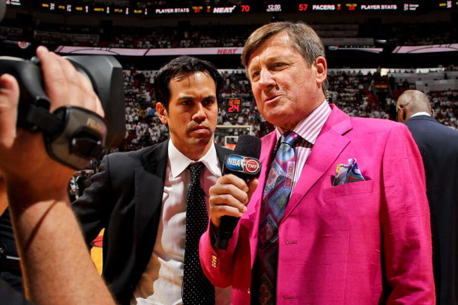 Spurs exec Monty Williams was given a colorful jacket inspired by the award's namesake, legendary TNT sideline reporter Craig Sager, who died of leukemia in December, as he accepted the first Sager Strong Award.Click ahead to view reactions to the December death of beloved sideline reporter Craig Sager. Photo: Issac Baldizon/NBAE Via Getty Images / 2013 NBAE