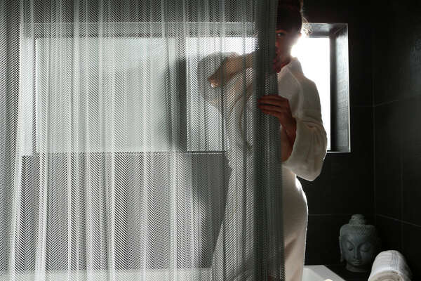 New Aluminum Mesh Shower Curtain Isnt For The Modest