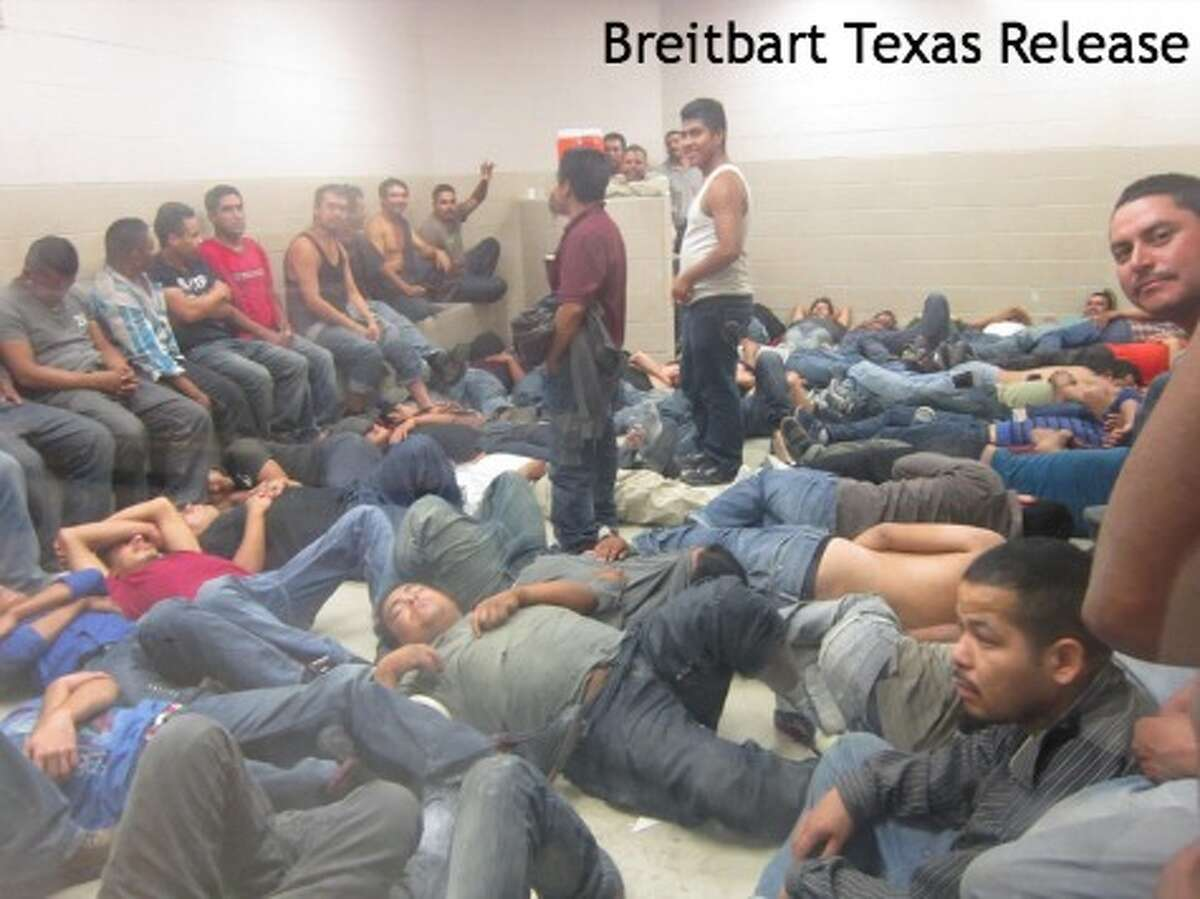 Hundreds of undocumented immigrants, mostly from Central America, are held in U.S. Border Patrol facilities in the Rio Grande Valley along the U.S./Mexico border in late May 2014. Photos were obtained by Breitbart.