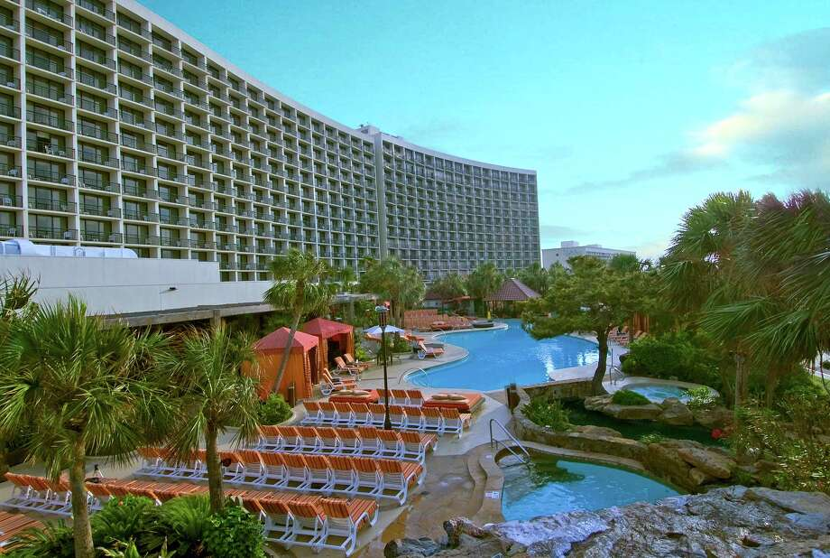 The 16-story San Luis Resort, Spa and Conference Center joined the empire in 1996. Landry's and the city brought the Galveston Island Convention Center to the 32-acre spot along the Seawall in 2004. Photo: Hc
