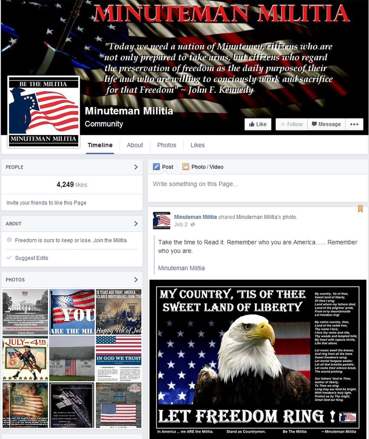 """Facebook groups share the """"Operation Secure Our Border"""" call to action."""