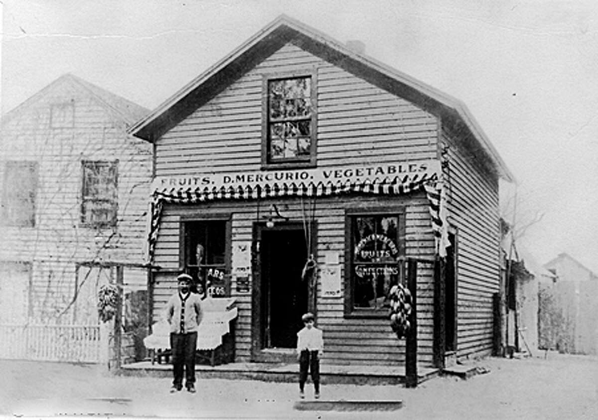 Mercurio's Market, shown in this 1909 photo, was a purveyor of fresh fruits and vegetables. Courtesy: Fairfield Museum and History Center