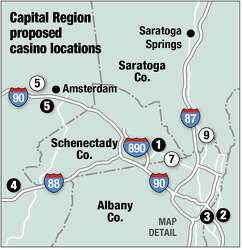 Picking the odds on casino plans' chances of winning - Times Union
