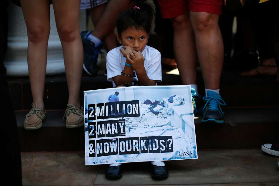 Heather Pia Ledezma, 4 and from Mexico, joins immigration reform protesters at a rally in Washington, D.C. Photo: Win McNamee, Getty Images