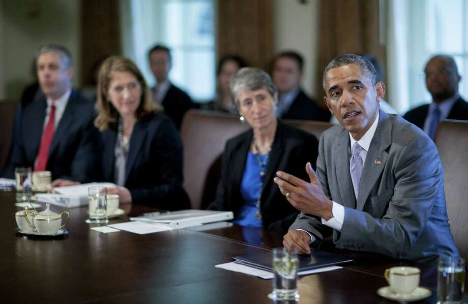 A reader criticizes President Barack Obama's decision to go it alone on immigration, without Congress. Obama speaks during a Cabinet meeting at the White House. Photo: Andrew Harrer / Getty Images / 2014 Getty Images