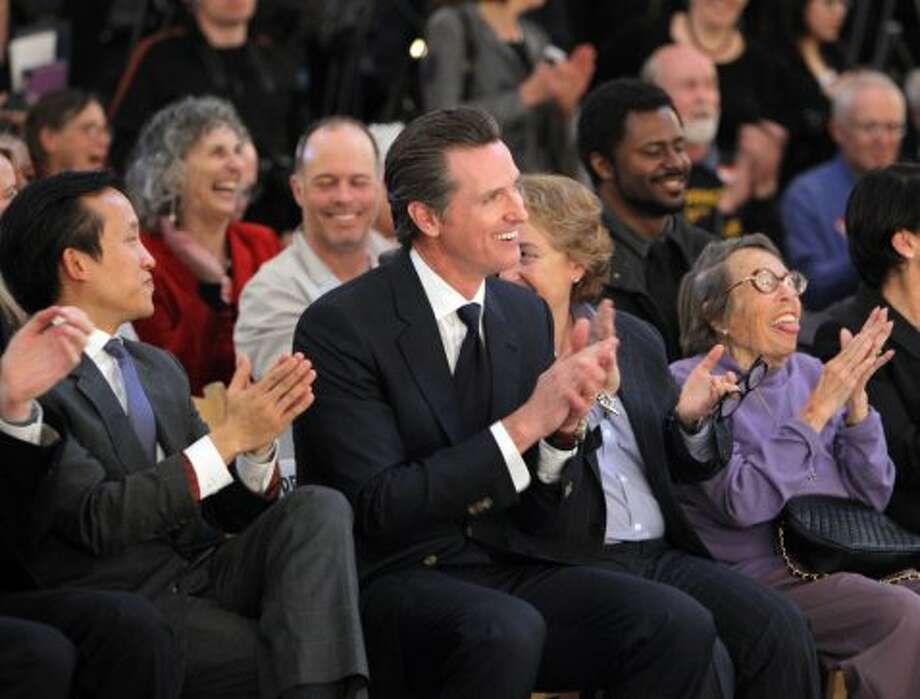 Gavin Newsom: lieutenant governor of California, two-time Tesla owner. Photo: Carlos Avila Gonzalez, The Chronicle