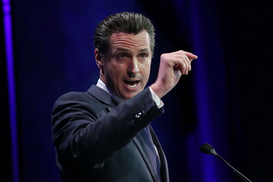 Lt. Governor Gavin Newsom speaks at the California Democratic Convention in Los Angeles on March 8, 2014. Photo: Jonathan Alcorn, For The Chronicle