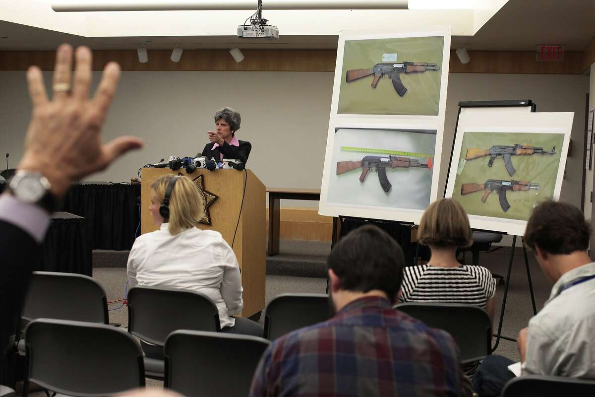 District Attorney Jill Ravitch addresses the press at the Sonoma County Permit and Resource Management Department in Santa Rosa, Calif. on Monday, June 7, 2014. Andy Lopez was fatally shot by Santa Rosa police last year.