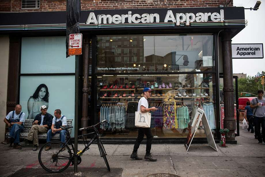 NEW YORK, NY - JUNE 19:  People walk past an American Apparel store on June 19, 2014 in New York City. Photo: Andrew Burton, Getty Images
