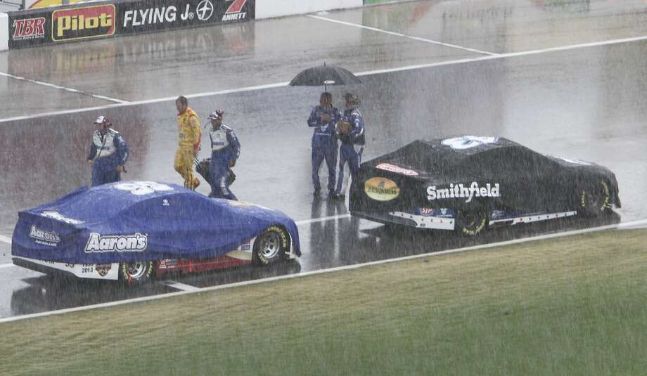 NASCAR drivers and fans were upset that the Coke Zero 400 was cut short because of rain. Fans vented their frustration on social media. Photo: David Graham, Associated Press